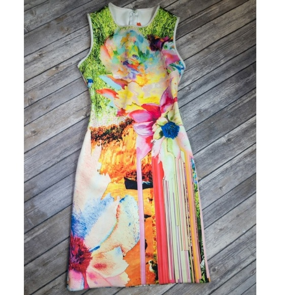 Clover Canyon Dresses & Skirts - Clover Canyon Printed Neoprene Shift Dress